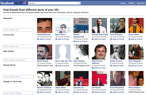Facebook thinks I know all these famous internet type people
