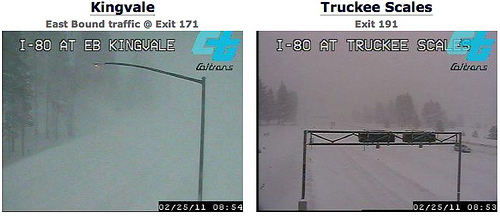 I80 is closed at Truckee